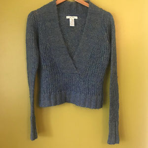 Free People V-Neck Blue-Green Sweater